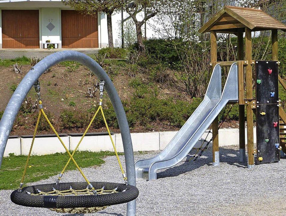 Auf dem Feuerbacher Spielplatz werden ...auf der Rüttenen offiziell eingeweiht.    Foto: Wißner