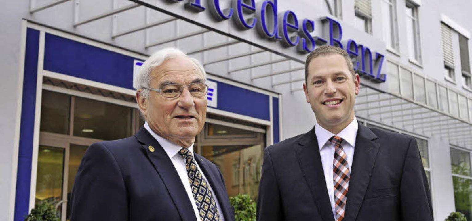 Heinz Santo (links) hat in Heiko Ehret...folger für sein Unternehmern gefunden.    Foto: Thomas Kunz