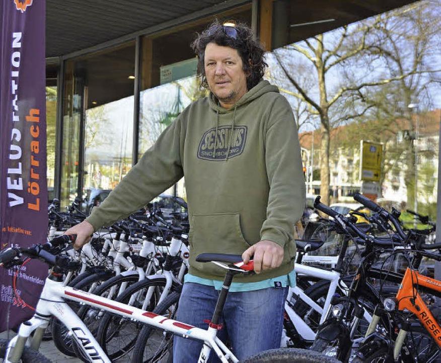 Andy Wochner von der Fahrradstation Velö     Foto: Tillmann Becker-Wahl