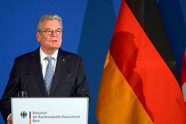 Freizügig äußert sich Gauck zur verschmähten Freizügigkeit
