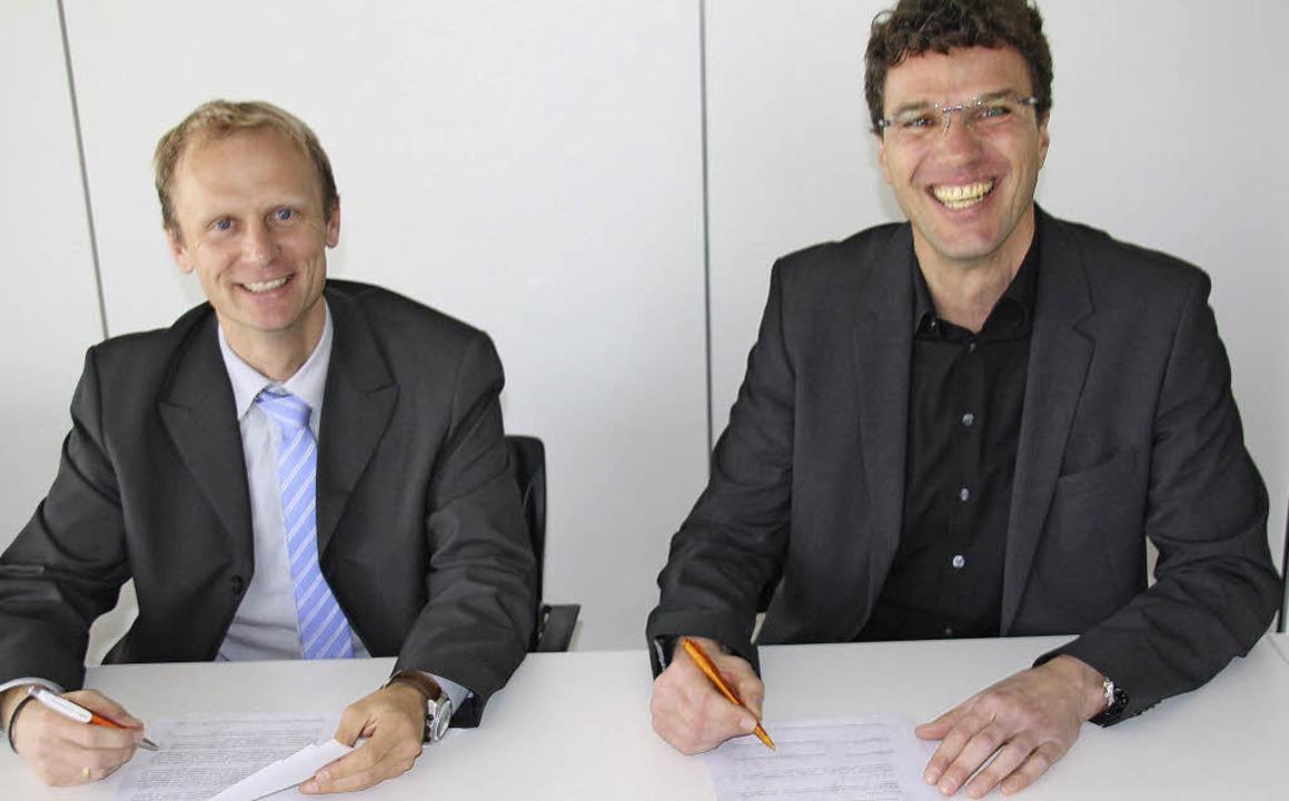 Eine gemeinsame Bildungspartnerschaft ...ealschule am Giersberg unterzeichnet.   | Foto: Andreas Peikert