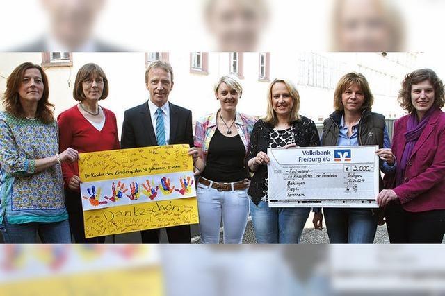 Volksbank unterstützt Kindergärten