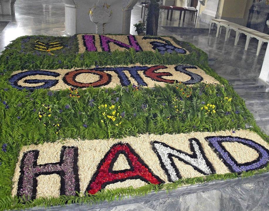 Einen Blumenteppich in der Martinskirche, wie 2013, wird es nicht mehr geben.   | Foto: Archivfoto: Bader
