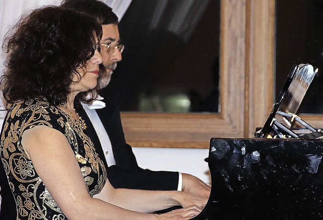 Maja und Sergej Zirkunow gestalteten z...ndig ein Klavierprogramm vom Feinsten.    Foto: Margrit Matyscak