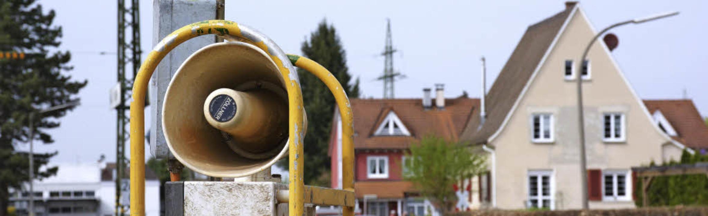 Die Signale der Rottenwarnanlage, die ...nd, stören die Nachtruhe empfindlich.     Foto: Lauber