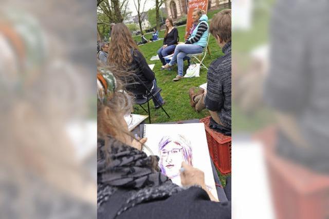 Porträts im Minutentakt und kostenlos