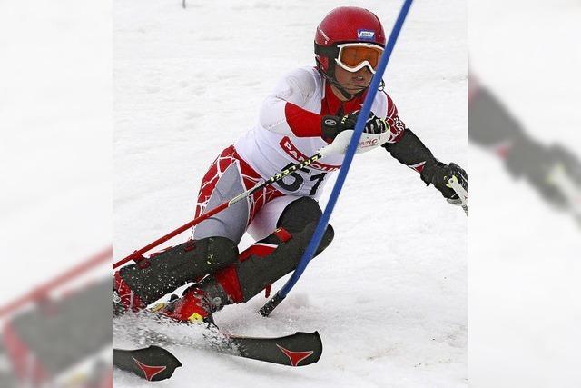 Slalom auf Schneeresten