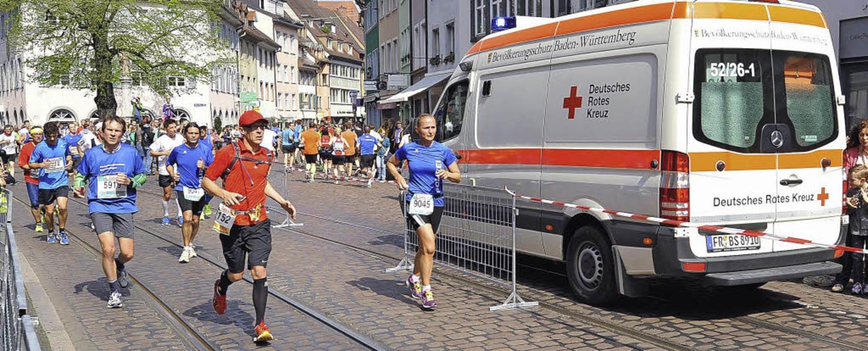 Entlang der 21 Kilometer-Strecke waren...n kamen tatsächlich auch zum Einsatz.   | Foto: Eggstein