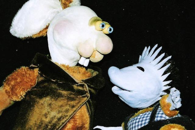 Figurentheater in Freiburg: Hase und Igel