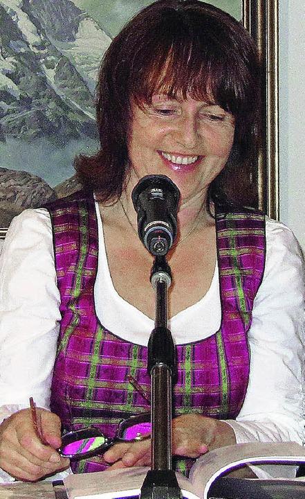 Die Österreicherin Gerlinde Allmayer i...utorinnen beim 26. Mund-Art-Festival.   | Foto: privat