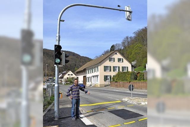 Neue Ampel in Degerfelden ist in Betrieb