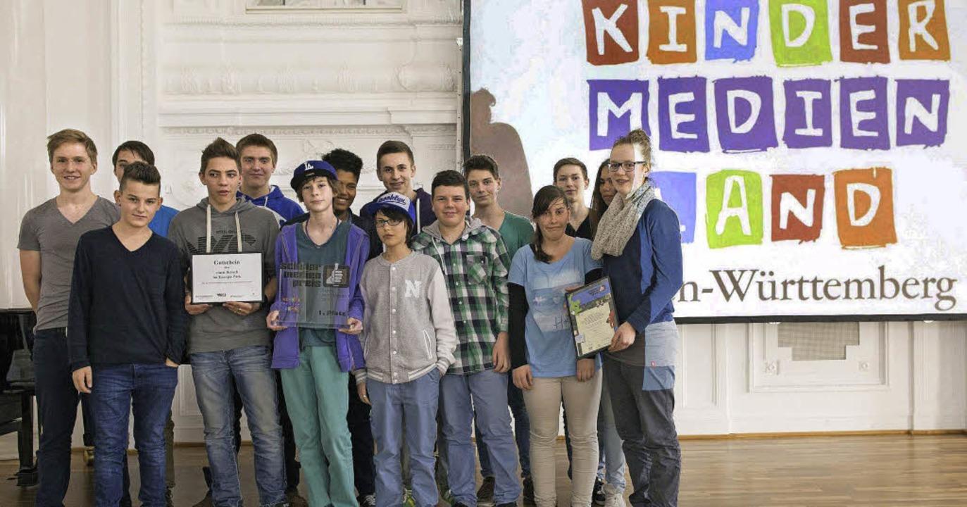 Die Montessori-Realschüler bei der Preisverleihung  | Foto: MFG/Matthiessen