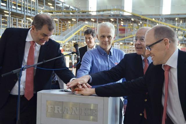 Franke startet das neue Logistikzentrum