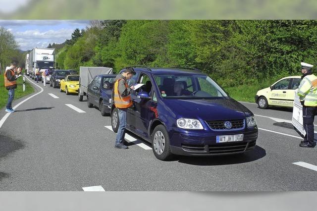 Verkehrsbefragung sorgt für Stau