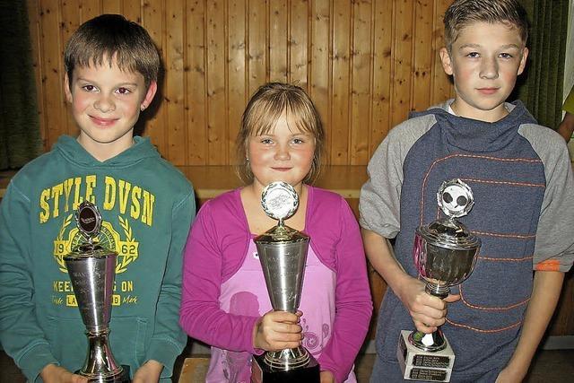 Pokale für die Jüngsten