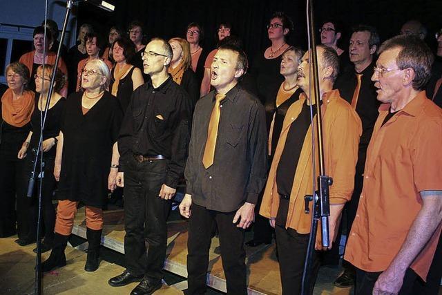 Die Virtuos Voices beglückten das Publikum mit ihrem Repertoire