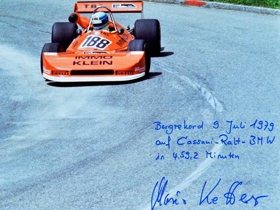 Rekordfahrt mit Widmung: Mario Ketterer in seinem Formel-2-Auto  | Foto: privat
