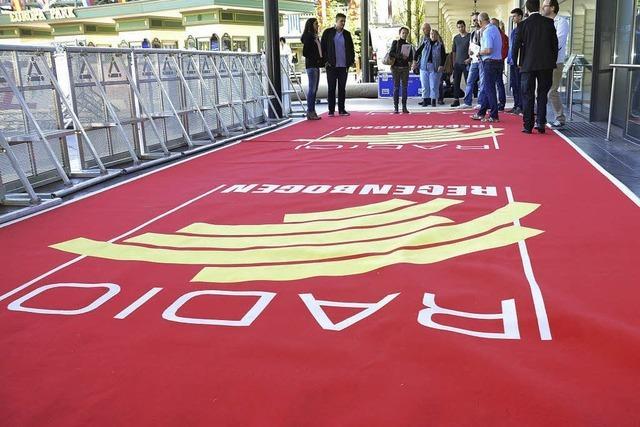 Der rote Teppich liegt bereit für die Stars