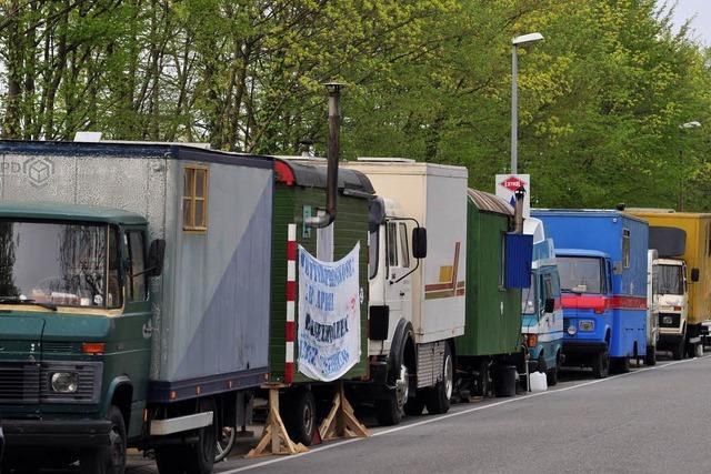 Wagenburg muss auf Druck des Ordnungsamts täglich umziehen
