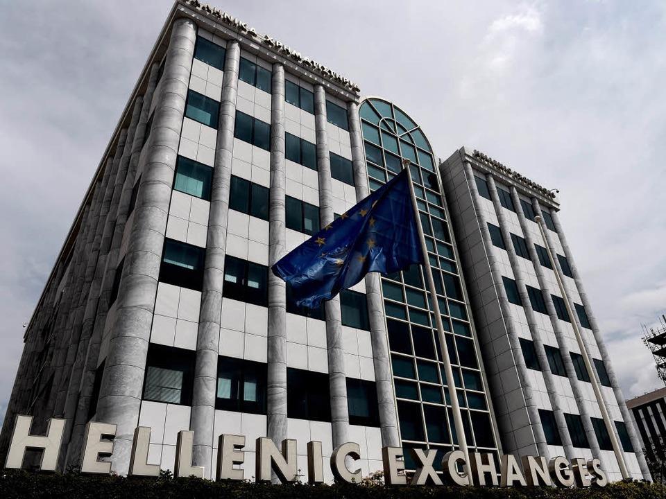 Die Börse in Athen    Foto: AFP