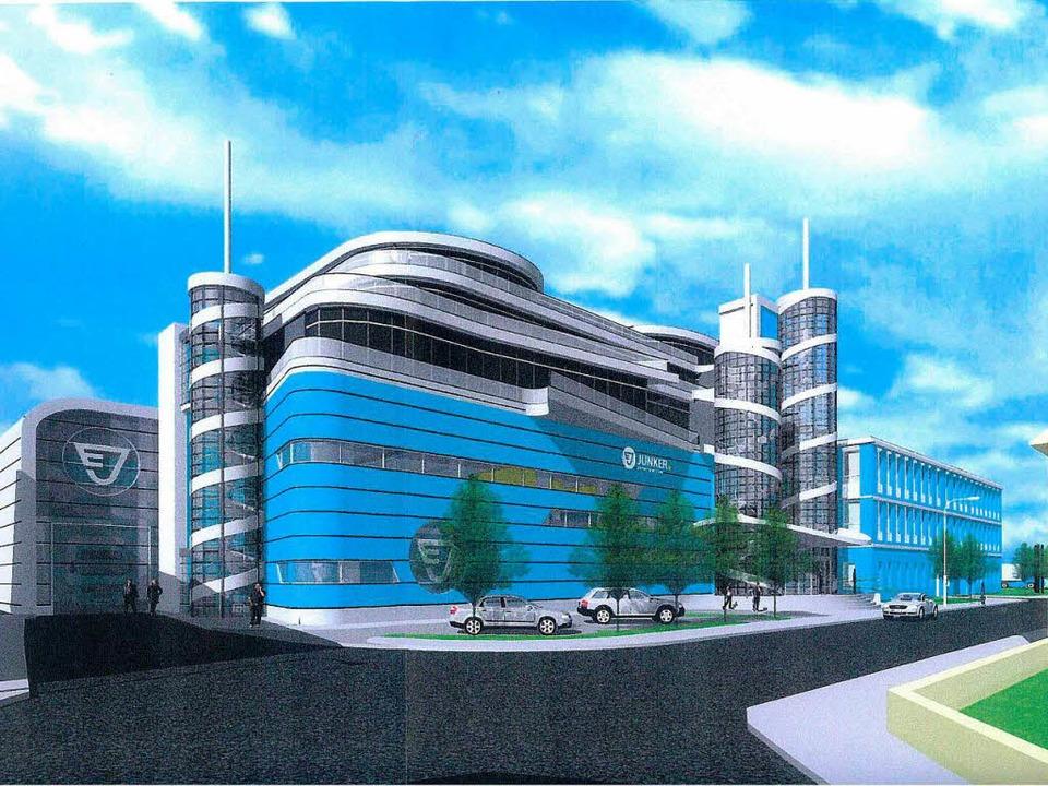So wird der Neubau aussehen, den die Firma Junker in Gengenbach errichten will.  | Foto: junker