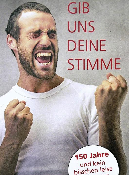 Mit diesem Flyer hat der Männergesangv...faffenweiler um neue Sänger geworben.   | Foto: privat