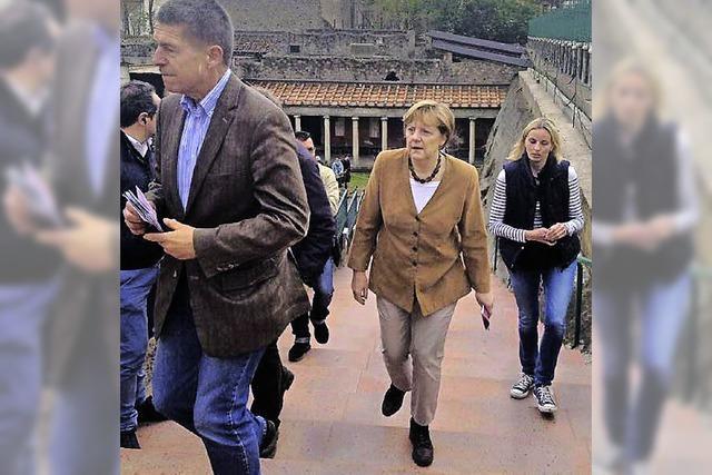 Merkel besucht Villa Oplontis