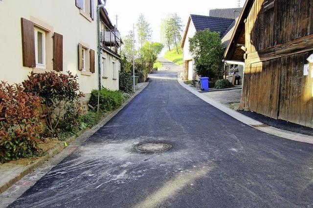 Die Straße am Nordweiler Kirchberg ist fertig