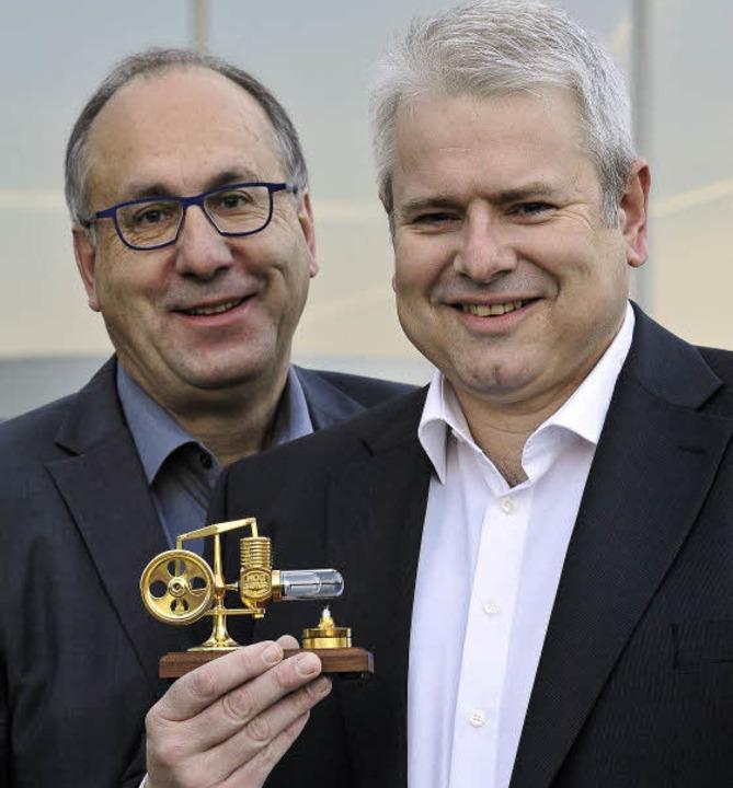 Geschäftsführer Peter Ohmberger (li.) und Michael Roth  | Foto: Thomas Kunz