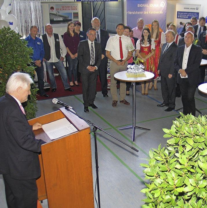 Vorsitzender Günter Blaser bei der Eröffnung am Samstag.  | Foto: Helmut Hassler