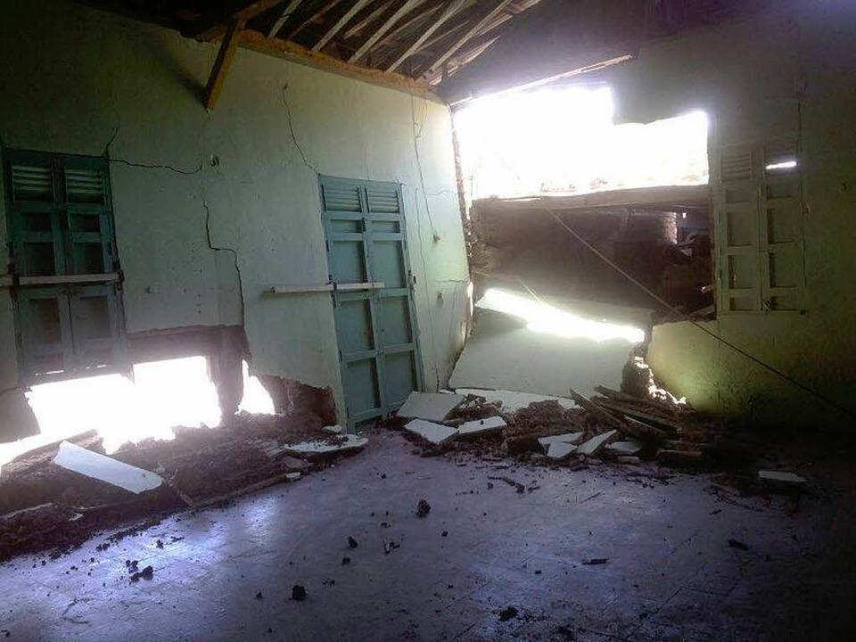 Ein Erdbeben zerstörte die Fahrradwerk...dschaftsbrücke Nicaragua in Nagarote.   | Foto: Privat