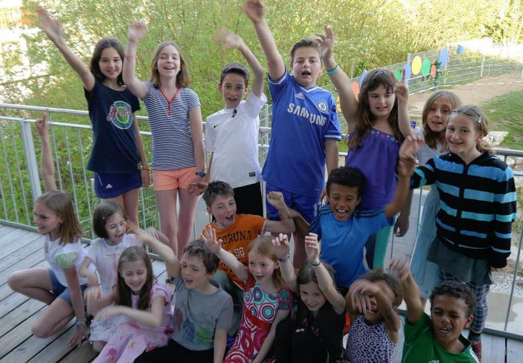 """Singen macht Spaß: die """"Pianissimo-Kids"""" aus Au.     Foto: privat"""