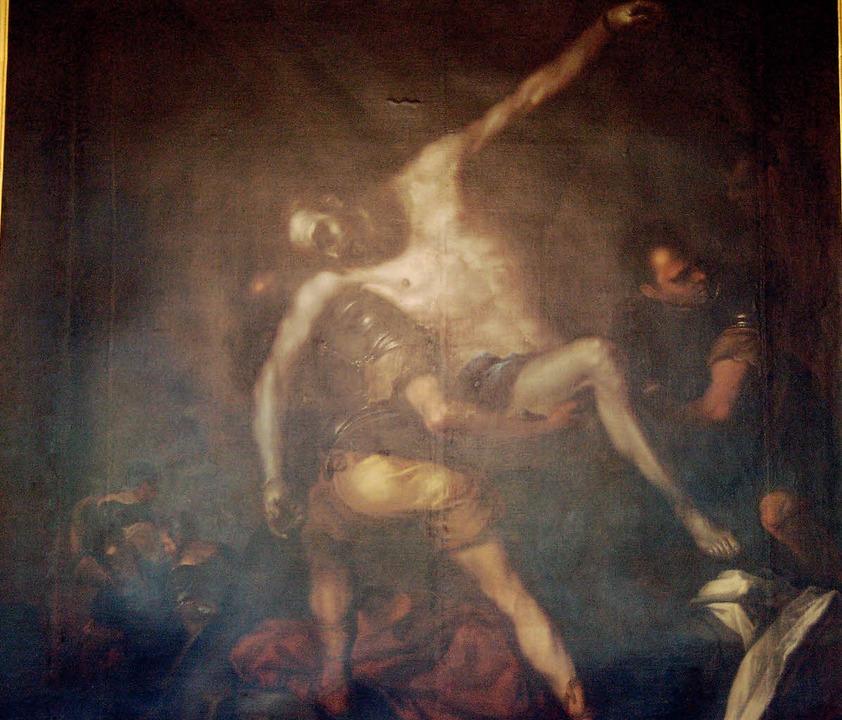 Die Abnahme des heiligen Andreas vom K...Grünen Salon des Kollegs St. Blasien.   | Foto: Claudia Renk
