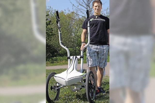 Ein Crosstrainer auf Rädern