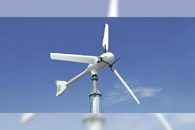 Strom von der Windmühle