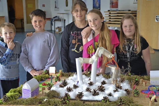 Kinder bauen ihr Wunsch-Hildboltsweier