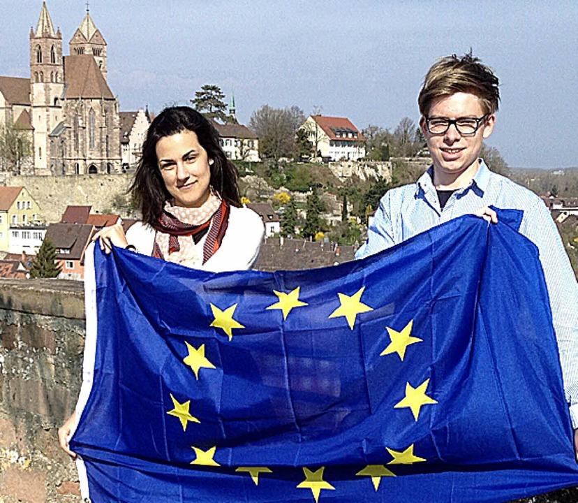 Mariel Wendel und Sebastian Scheffelt ...ropäischen Jugendparlament  vertreten.    Foto: max landerer
