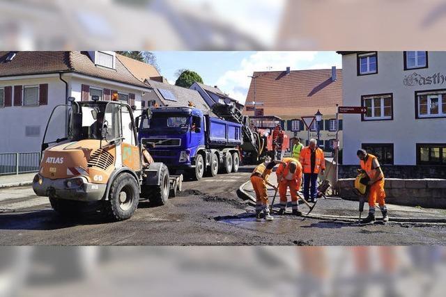 Die Eisenbahnstraße im Schliengener Zentrum wird saniert