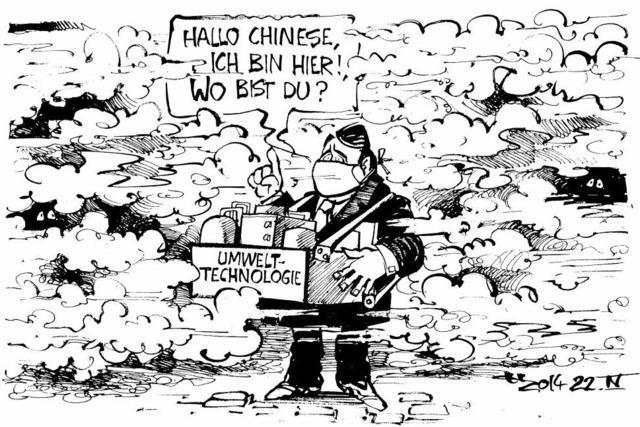 Deutscher Wirtschaftsminister in Peking