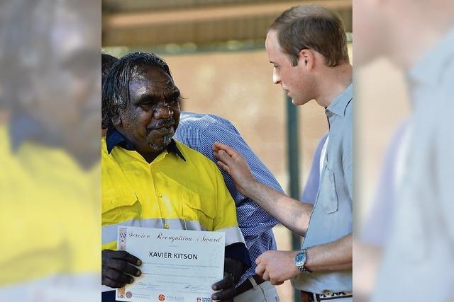 Kate und Prinz William zu Besuch bei den Ureinwohnern