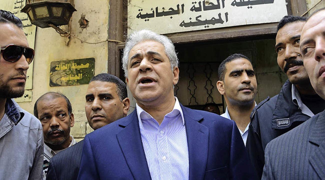 Hamdin Sabbahi bei der Registrierung seiner Kandidatur in Kairo   | Foto: AFP