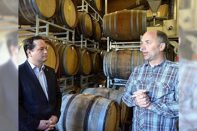 Bonde besucht Weinhaus