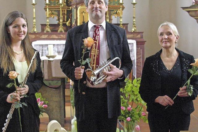 Trompete, Flöte und Orgel im Zusammenspiel