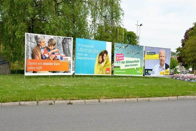 Lörrach: Großflächig mit Wahlwerbung tapeziert