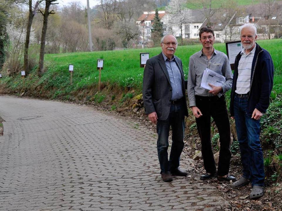 Hans Hermann Seydewitz (von links), Ar...Gespräch über die Standorte gewünscht.  | Foto: Julius Wilhelm Steckmeister