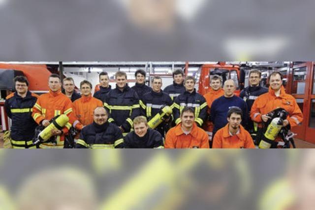 Feuerwehrmänner fit für den Einsatz