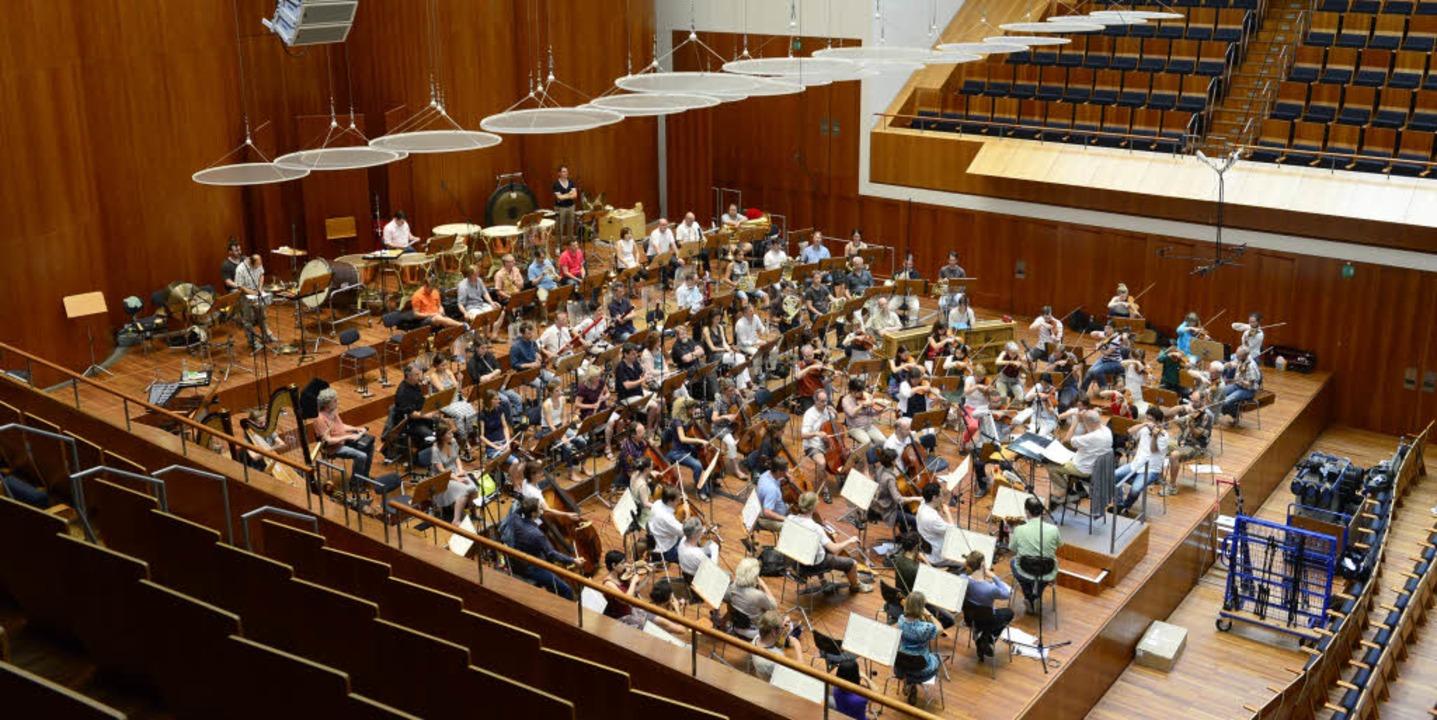 Das SWR-Sinfonieorchester bei einer Probe im Rolf-Böhme-Saal des Konzerthauses    Foto: Ingo Schneider
