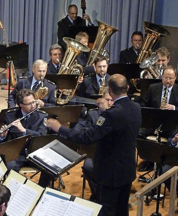 Vom Können des Bundespolizeiorchesters...heimischen Musiker gerne inspirieren.   | Foto: Heidrun Simoneit