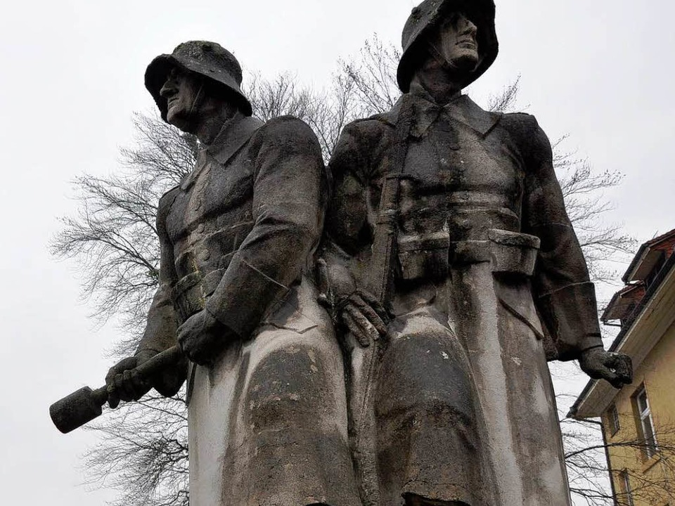 Die Nazis machten die Soldaten des Ers...938 errichtetes Kriegerdenkmal in Murg  | Foto: Daniel Gräber