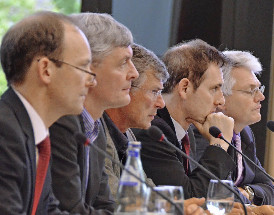 Thomas Osberghaus (von links), Flavio ...uf dem Podium. Es fehlt Joachim Simon.  | Foto: Ralf H. Dorweiler